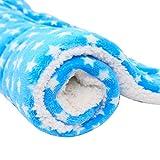 Haodou Haustier Decke Hundebett Hundekissen Stern Blau Decke Matte Mimi Softe Warme Flanell Hundedecke Katzendecke Fleecedecke Schlafplatz für Hund Katzen für den Winter(50 * 30CM)