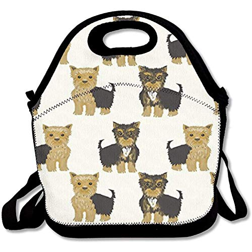 Insulated Lunch Bag for Adults,Kids,Men,Women, Lunch TotesYorkshire Terrier Cute Yorkie Dog Pet - Yorkie Food Dog