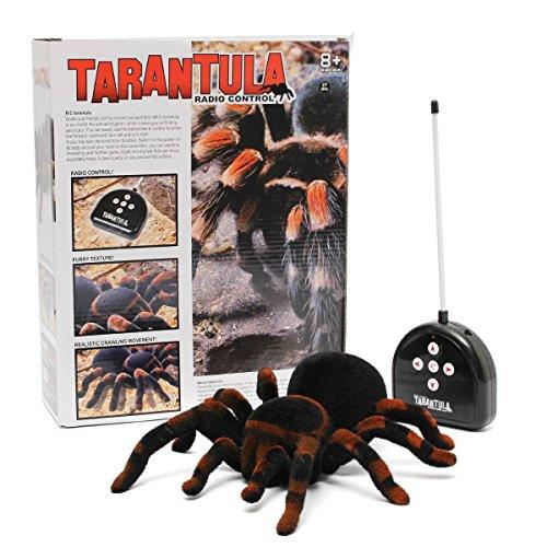 euerte Spinne Fernbedienung Spider Spielzeug Geschenk Deko Riesenspinne Tarantel Tarantula (Spinne Tarantula)
