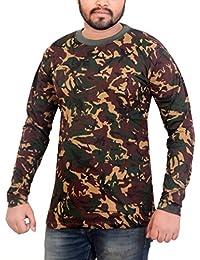 Devil Men's Army Printed Full Sleeve Cotton T-shirt