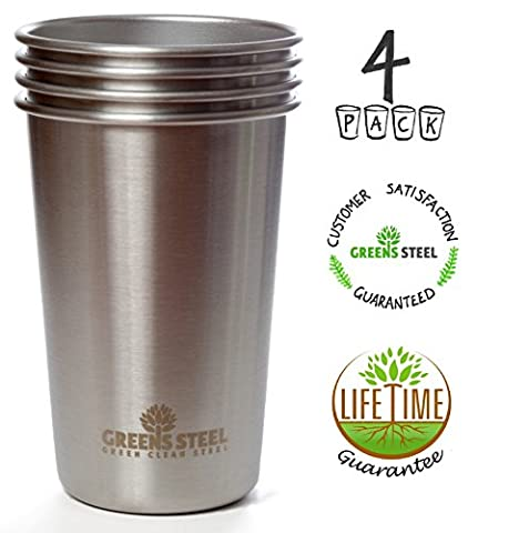 New Premium Stainless Steel Pint Cup (Limited Edition 4 Pack)