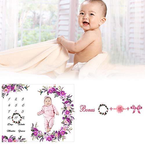 Kostüm Haushaltsgegenstände Aus - smileyshy Baby Foto Requisiten, weiche Fotografie Hintergrund Decke Blumenkranz Stirnband Set für Neugeborene Mädchen Junge Foto Requisiten