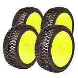 James Racing Komplettset Buggy Racing Reifen Dot Evo Super Soft mit Dish Felge gelb 1:8 J08B02S1I & J-Y01   Maßstab 1:8 Buggyreifen [830036]