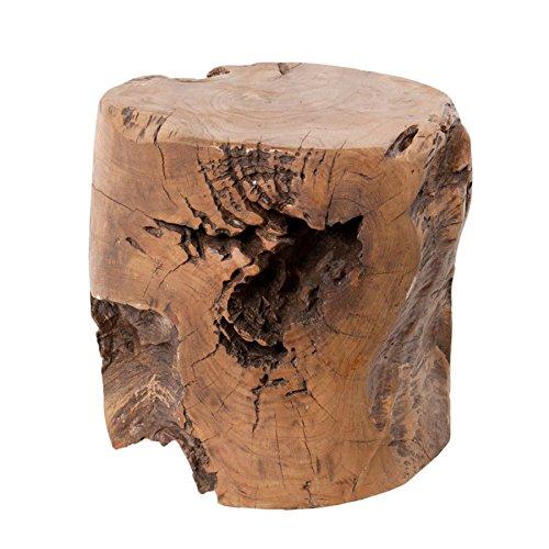 Invicta Interior Teak Hocker VOODOO aus einem Wurzelherzstück eines echten Mammutbaumes Couchtisch