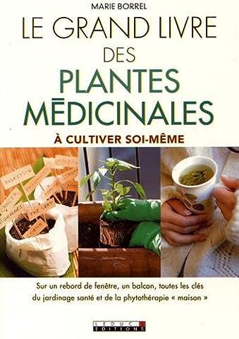 Le grand livre des plantes médicinales à cultiver soi-même : sur un rebord de fenêtre, un balcon, toutes les clés du jardinage santé et de la phytothérapie maison
