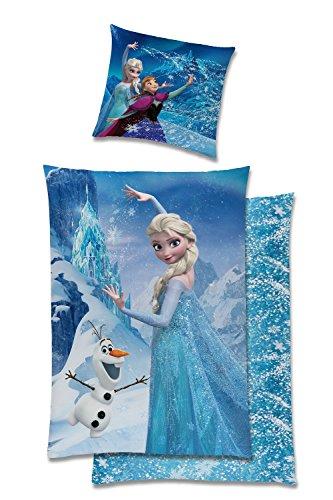 tex idea GmbH Disney Die Eiskönigin Frozen Bettwäsche Baumwolle Biber 135x200 Anna ELSA Olaf 5668