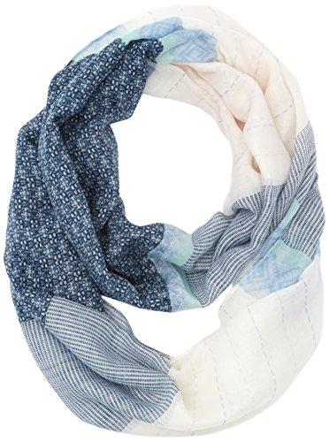 tom-tailor-damen-halstuch-patchwork-print-loop-blau-real-navy-blue-6593-one-size