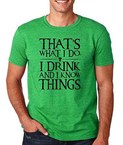 Daataadirect Herren T-Shirt Small Grün (Heather Irish Green)