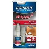 Cyanolit 33300047 Blister de colle repar + poudre à réparer 20 g