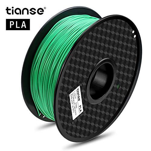 TTIANSE Filamento de PLA para la impresora 3D / Pluma 3d, 1 kg 1,75 mm(Verde)