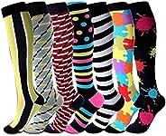 KUGIN calcetines de compresión (7 pares), 15-20 mmHg es mejor graduado atlético/médico hombres mujeres, correr