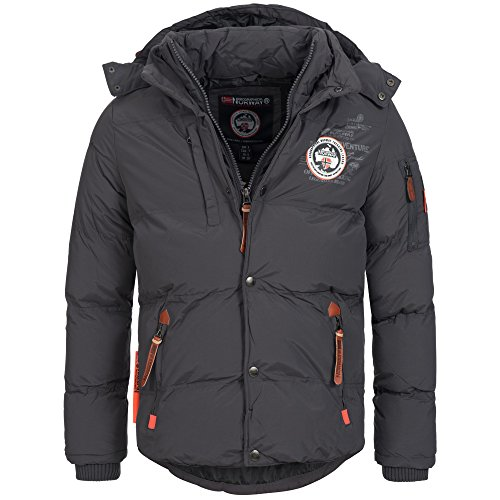 Geographical Norway VENISE Herren Winterjacke Jacke Outdoor warm gefüttert Gr. S-XXXL Grau