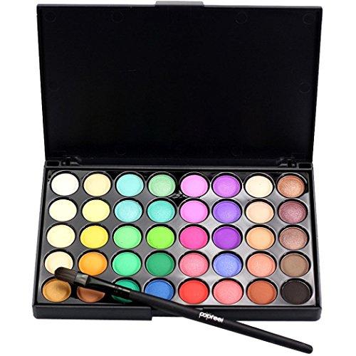 Bonjouree Palette de Fard à Paupières Matte De 40 Couleur + Pinceau de Maquillage (B)