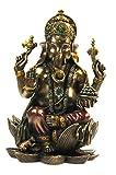 Buddha Ganesha auf Lotusthron Feng Shui Ganesh Elefantengott Figur 1