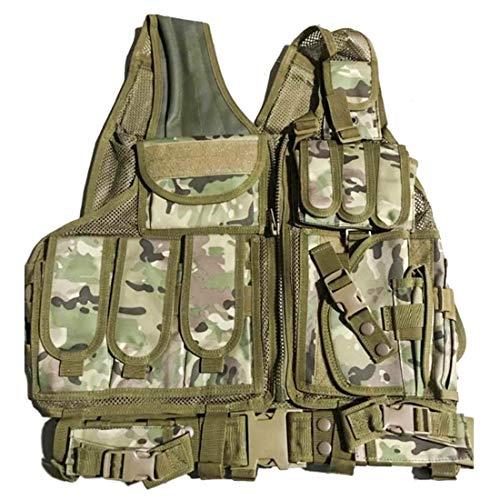 GODNECE Militär Weste Airsoft Taktische Weste Molle für Nerf/Airsoft/Camping/Outdoor - Für Weste Kinder Softair