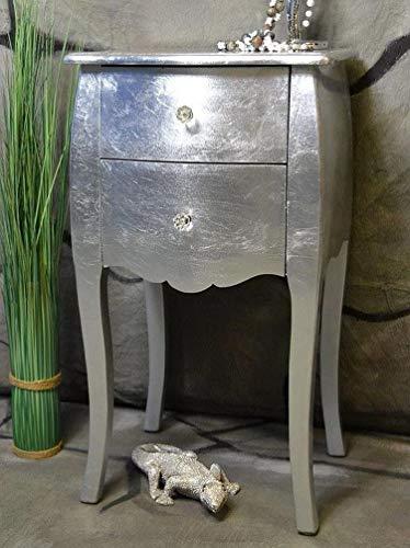 Livitatu00ae Kommode mit 2 Schubladen Pomp Silber barock antik pompös Landhaus LV2012