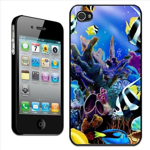 Fancy A Snuggle - Cover rigida per Apple iPhone 4/4S, motivo: scena di mare tropicale con corallo e pesci