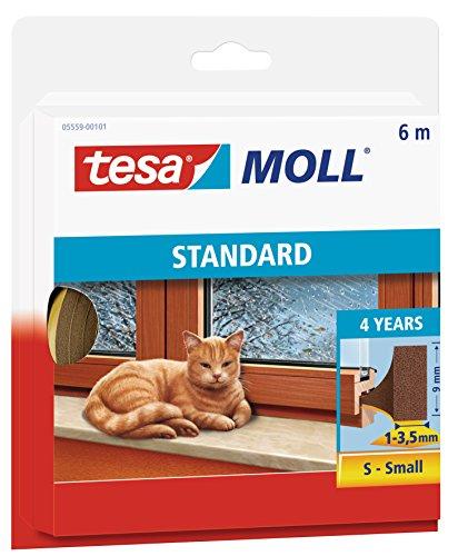 tesamoll Schaumstoffdichtung für Fenster und Türen, braun, STANDARD, I-Profil, 6m
