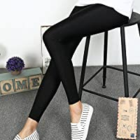 ZHUDJ Brillantes Pantalones Leggings Leggings Pantalones De Verano,Nueve Puntos,XXXL