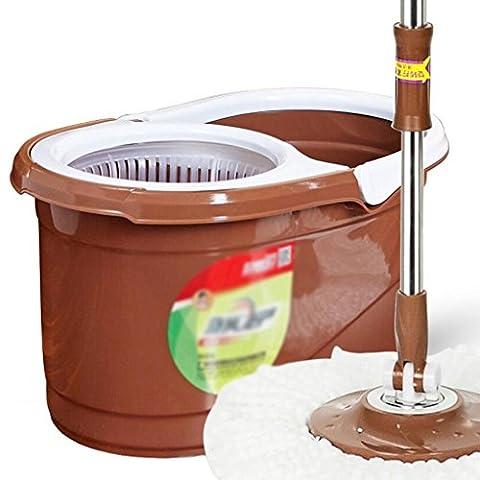 Xuan - worth having Drehen Sie den Mop Eimer Handdruck Double Drive Mop Handwäsche Mop Edelstahl Metall Ruten Barrel Bottom Pad Rotary mop