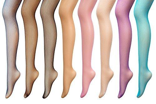 PreSox Netzstrumpfhose Nahtlose Nylon Mesh Strümpfe Strumpfhose für Frauen 8 Farben (8P)