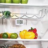 Kühlschrank-Thermometer, SUPLONG digitale wasserdichte Kühlschrank mit Gefrierfach Thermometer mit gut lesbarem LCD-Anzeige Lesen Perfekt für Innen / Außen / Home / Restaurants / Bars / Cafés - 6