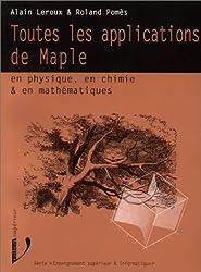 TOUTES LES APPLICATIONS DE MAPLE