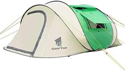 GEERTOP 3-5 Person Portable Instant Pop-up Camp Shelter Zelt für Outdoor Beach Camping