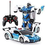 RC Voiture Transformation Robots Modèle Véhicule Sport Télécommande Robot Jouets Cool Deformation Voiture Enfants Jouets Cadeaux pour L'âge 3 4 5 6 7 8 9 Ans Garçons Enfants Cadeau,Blanc