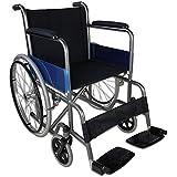 Silla de ruedas plegable y autopropulsable| Modelo Alcázar | Ancho de asiento 46cm | Acero | Altura 86cm | Peso máximo soportado 100 kg