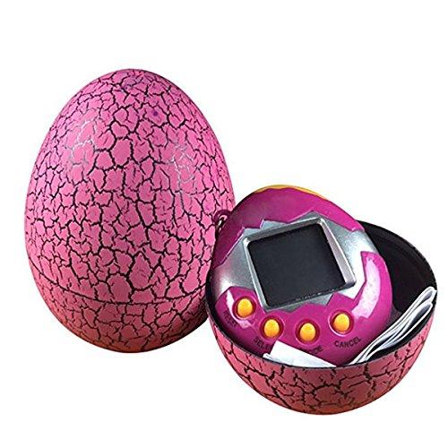 retyly animali domestici elettronici bambino giocattolo chiave digitale animali tumbler dinosaur uovo virtuale animali rosa rossa