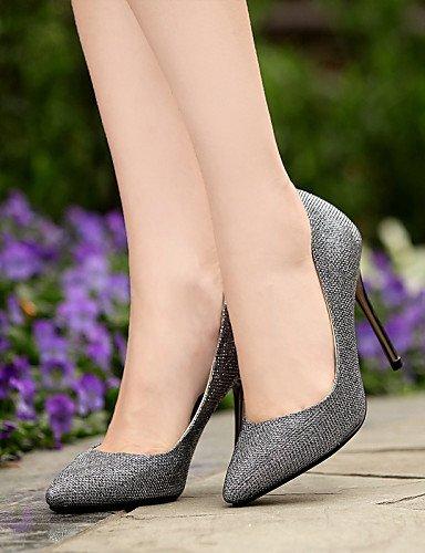 WSS 2016 Chaussures Femme-Mariage / Bureau & Travail / Décontracté / Soirée & Evénement / Habillé-Argent-Talon Aiguille-Talons-Talons-Paillette silver-us6.5-7 / eu37 / uk4.5-5 / cn37