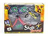 Skatepark Ramps, Mini Finger Bike Skateboard Playset Fingerboard Skate Park Kit with Bicycles for Tech Deck Circuit Board Ultimate Sport Training Props Toy Christmas Gift for Kids (A)