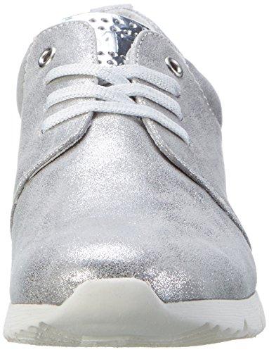 Marco Tozzi 23700, Scarpe da Ginnastica Basse Donna Grigio (Grey Metallic 297)