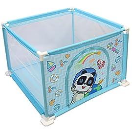 deAO Box per Bambini Parco Giochi e Piscina di Palline Palestrina Include Palle di Colore (Quadrato Blu)