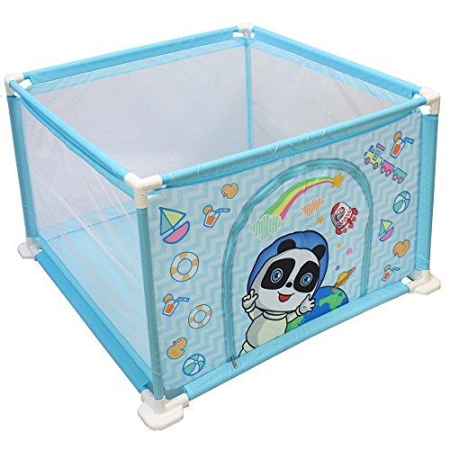 deAO Kai Sheng Long Box per Bambini Parco Giochi e Piscina di Palline Palestrina Include Palle di Colore (Quadrato Blu)