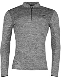 Slazenger Homme Technical Pullover Top Haut Pull Manches Longues Sport 1/2 Zip