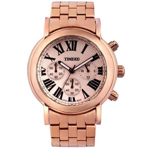 Time100 orologio uomo da polso movimento al quarzo con tre quadranti multifunzionale cinturino in acciaio inox#w80009g.03a