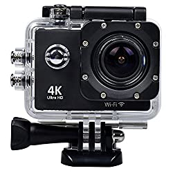 Bhavi Wi-Fi 4K Waterproof Sports Action Camera - 4K Ultra Hd, 16Mp,2 Inch LCD Display, Hdmi Out, 170 Degree Wide Angle