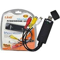 SCHEDA USB PC ACQUISIZIONE AUDIO VIDEO 1 CANALE CH RCA PER MAC OSX WIN 8 CAP DC8
