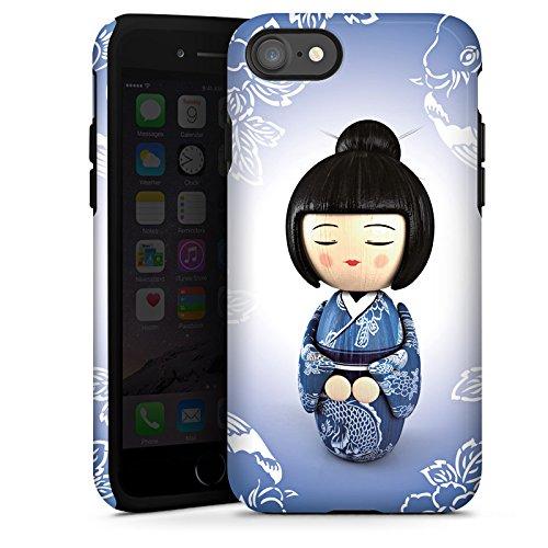 Apple iPhone X Silikon Hülle Case Schutzhülle Koi Kokeshi Puppe Asien Tough Case glänzend