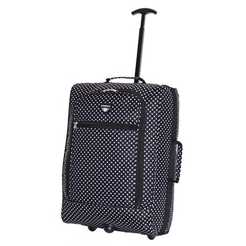 Slimbridge Montecorto super leggero 55 cm bagaglio a mano con ruote, Pois Neri