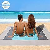 Telo Mare Antisabbia (220 x 200 cm) Minetom Coperta da Spiaggia Sand Free Telo Spiaggia Impermeabile Tappetino Mare Beach Mat e Tappetini da Picnic per La Spiaggia