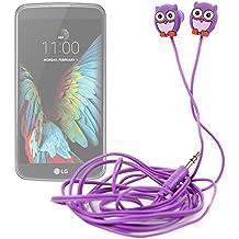 DURAGADGET Auriculares para niños estéreo con diseño de búho para smartphone LG G350 , G5 , K10 , K3 , K4 , K5 , K7 3G , K7 LTE , K8 V , K8 , Optimus Zone 3 , P780
