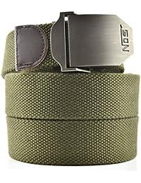 Cinturón Lona Hombre Militar Tactico Policia Negro Cinturónes Ocasional  Todo-Fósforo Correa Hombres… 3140044944c5