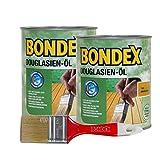 Bondex Douglasien-Öl, 1,5 Liter inkl. Pinsel - Schutz- und Pflegeöl für Aussen, Gartenmöbel und Terrassenöl