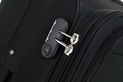 51KGYDQ7qdL - Beibye 4ruedas maleta de viaje 8005plástico maletín equipaje Maleta Juego de L XL de m en 5colores, negro