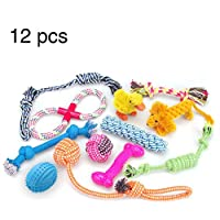 RoyalCare 12 Pack Dog Toys Gift Set, Ball Rope and Chew Squeaky Toys for Medium to Small Dog