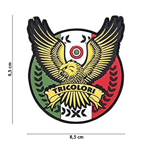 Patch 3D PVC Italie Tricolori / Cosplay / Airsoft / Camouflage