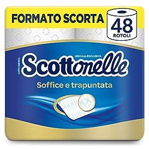 Scottex Scottonelle Carta Igienica Soffice e Trapuntata, Confezione da 48 Rotoli 18 spesavip